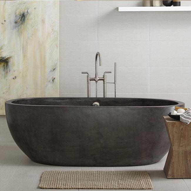 ... Freestanding Modern Seamless 52 Inch Bathtub ...