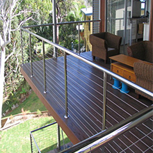 Free sample stainless steel cable railing for stair and balcony