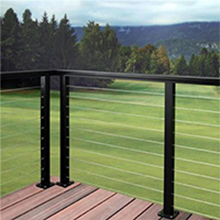 Deck cable rails wire railing systems/stainless steel front railing prices