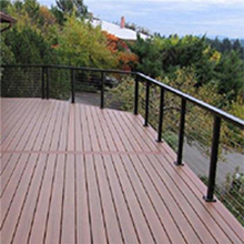 Round stainless steel cable railing