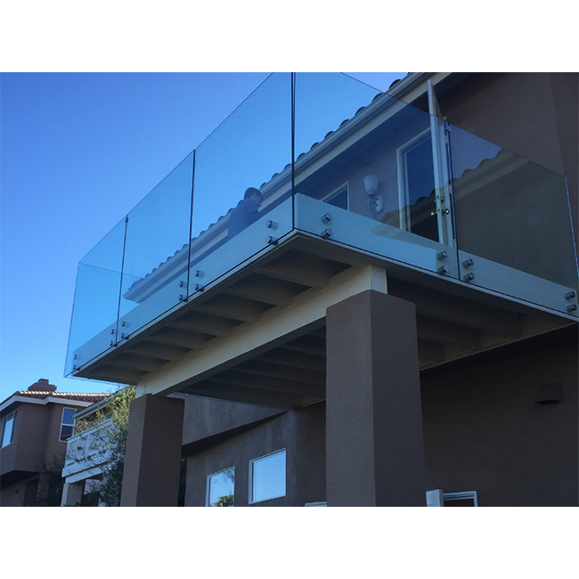 S-Standoff Style Frameless Safety Glass railing