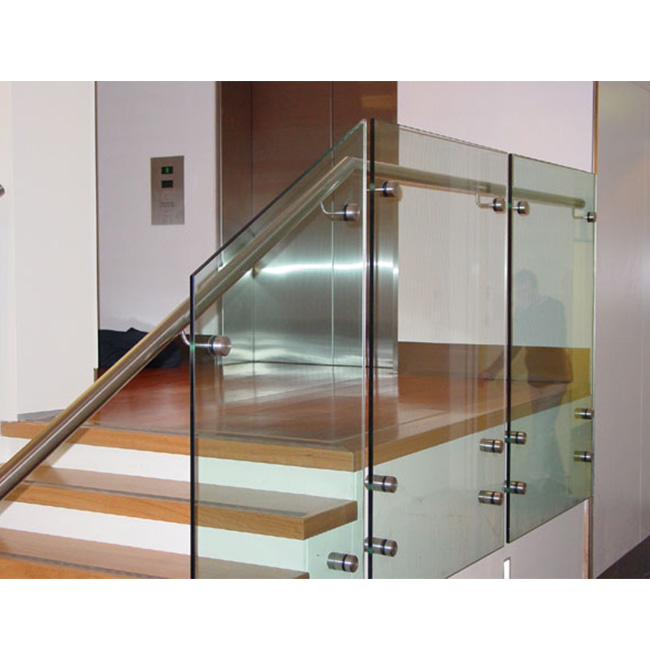 S-Frameless Patch Fitting Tempered Glass railing Standoff Glass railing