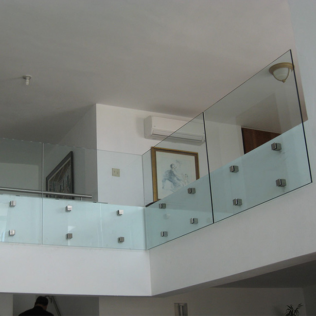 S-Pin Fixed Style Standoff Laminated Glass railing