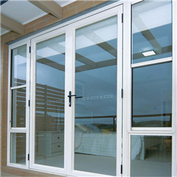 Low price powder coated aluminum glass swing insulation casement door with definition-A