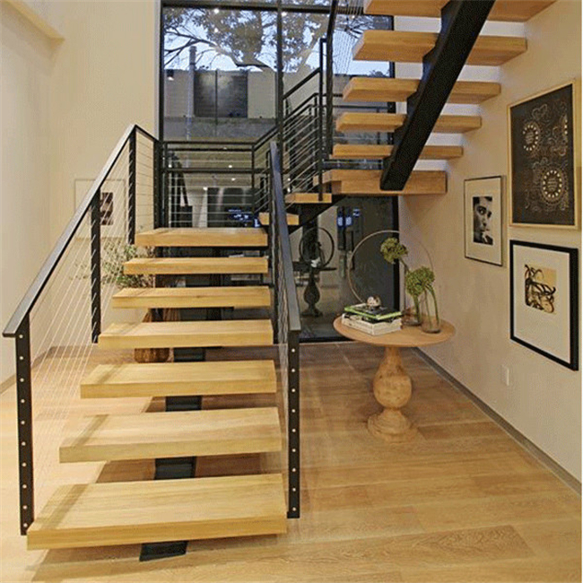 Charmant Floating Stair Brackets,prefabricated Metal Straight Floating Staircase